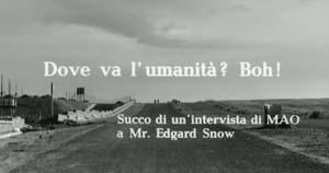 Frame dal film Uccellacci Uccellini di Pier Paolo Pasolini