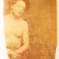 Paolo Gioli. L'annegato (a Hyppolite Bayard), 1981. Polaroid Polacolor 50x60, trasferita su carta da disegno, cm 70x50