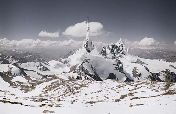 "© Michael Najjar. ""nasdaq_80-09"", From the series ""high altitude"" 2008 – 2010. Original size: 202 x 132 cm"