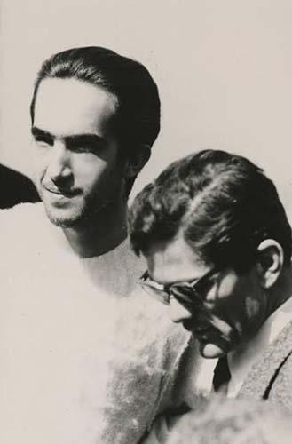 Enrique Irazoqui con Pier Paolo Pasolini