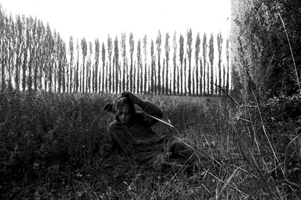 Franco Guerzoni. Orsi a Modena. Primi anni '70. Foto di Luigi Ghirri