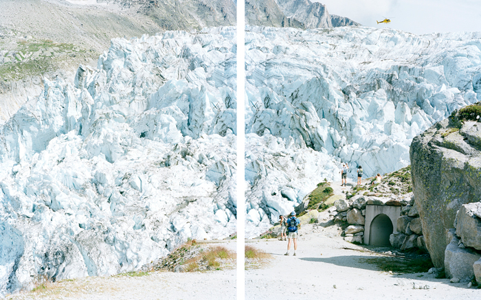 © Walter Niedermayr. Glacier d'Argentiére 02, 2009. courtesy: the artist and Galerie Nordenhake, Berlin / Stockholm