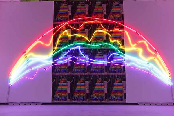 © Sarkis. Two rainbows, 2015. Neon and print 600x900cm. © Sarkis, Adagp, 2015 Paris. Courtesy Galerie Nathalie Obadia Paris/Bruxelles- Photo by Musacchio-Ianniello