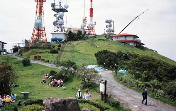 © Armin Linke. Mountain with antennas Kitakyushu. Japan, 2006