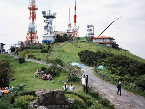 © Armin Linke. Mountain with antennas Kitakyushu. Japan, 2006
