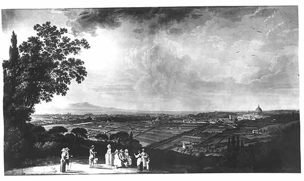 Jakob Philipp Hackert. Veduta dal Gianicolo, 1871